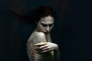 creature dark dark fantasy women fantasy girl