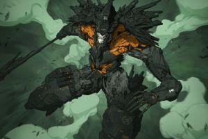creature futuristic cyberpunk drawing nivanh chanthara armor concept art original characters fantasy art illustration science fiction artwork smoke military digital art