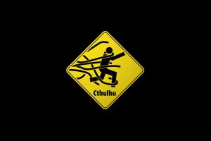 cthulhu simple road sign