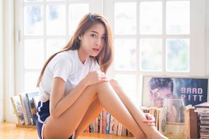 cup-e brunette model women pichana yoosuk short shorts asian thai
