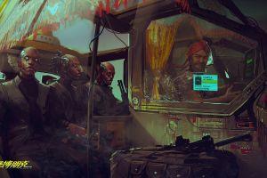 cyberpunk 2077 cyborg cyberpunk video games chinese fantasy art
