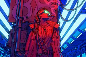 cyberpunk digital art science fiction