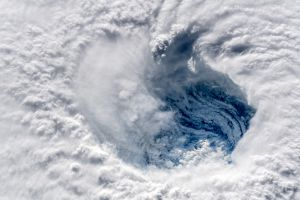 cyclone space station snow iss top view closeup hurricane nasa photography orbital stations clouds alexander gerst nature spiral bird's eye view