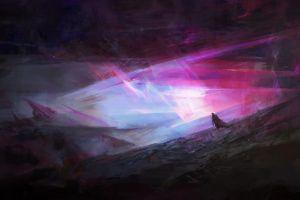 dark abstract sky artwork landscape 3d fractal digital art