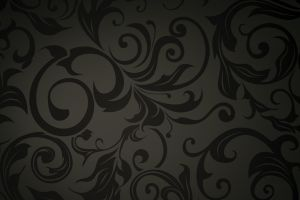 dark background floral pattern vector