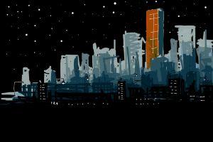 dark city cityscape night