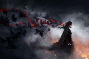 dark crow digital art