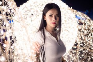 dark hair big boobs asian women model