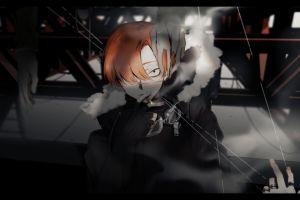 dark smoking anime girls anime