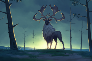 deer artwork fantasy art northgard (game) drawing trees digital art