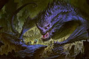 demon soldier knight giant digital art dragon fantasy art