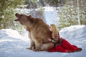 depth of field blonde cosplay shoulder pads snow outdoors women winter dress photography women outdoors fangs darya lefler forest looking away