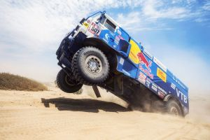 desert sand rally dakar rally kamaz vehicle