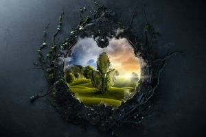 desktopography fantasy art digital art