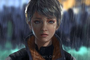 detroit: become human wlop detroit become human anime girls video games wlop