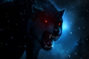 digital art animals wolf