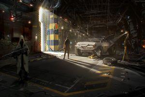 digital art apocalyptic concept art artwork cyberpunk bunker science fiction futuristic