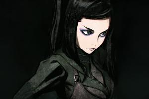 digital art artwork anime girls ergo proxy brunette re-l mayer
