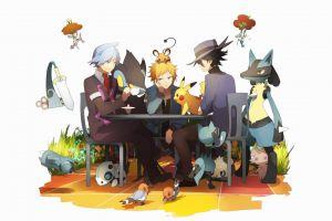 digital art artwork simple background anime anime boys white background