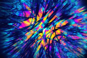 digital art colorful blue abstract 3d abstract