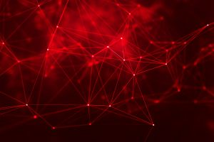 digital art lines cyberspace geometry abstract red