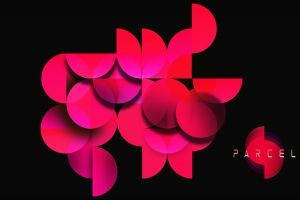 digital art red circle geometry