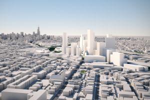 digital art rendering street render skyscraper building cgi cityscape
