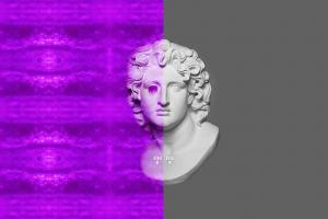 digital art vaporwave trippy
