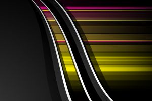 digital art yellow abstract shapes