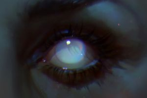 digital looking away white eye eyes artwork