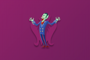 digital purple background vampires dracula