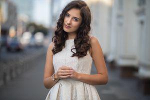 dmitry shulgin face women dress portrait model brunette
