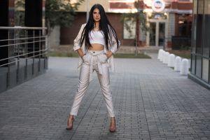 dmitry sn portrait women high heels long hair
