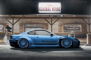 dmitry strukov nissan silvia s15 side view car vehicle blue cars