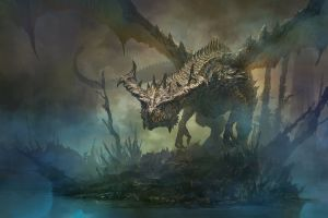 dragon fantasy art artwork digital art