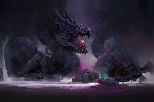 dragon fantasy art dark dark fantasy