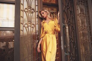 dress blonde model women