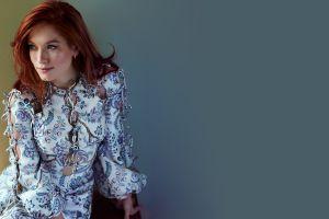 dress redhead maria thayer women closeup actress