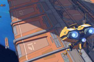 drone artwork science fiction comic art spaceship futuristic concept art planet space
