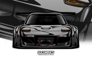 edc graphics mazda rx-7 mazda rx-7 fd japanese cars render jdm mazda