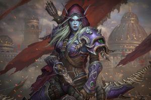 eric braddock fantasy girl video games world of warcraft video game art sylvanas windrunner