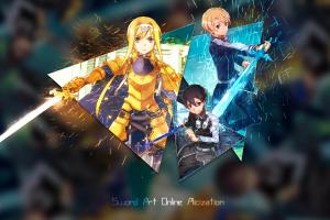 eugeo alice anime kirito (sword art online) anime girls sword art online picture-in-picture