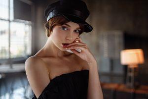 face bare shoulders georgy chernyadyev women portrait olya pushkina model