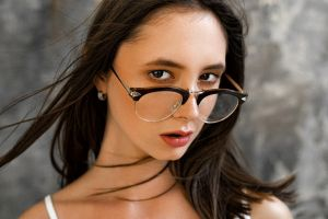 face disha shemetova portrait women with glasses max pyzhik women