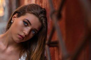 face eyeliner portrait women blue eyes marco squassina