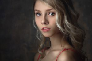 face portrait women alice tarasenko model blonde