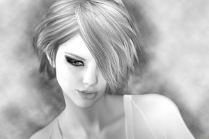 face women monochrome artwork