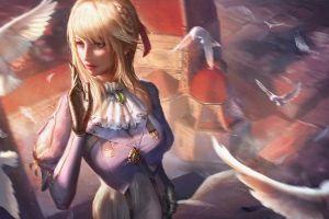 fantasy art blonde violet evergarden