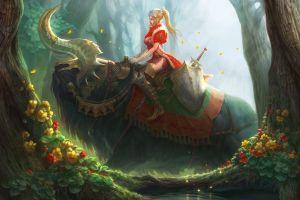 fantasy art creature nature artwork warrior girls forest warrior anime