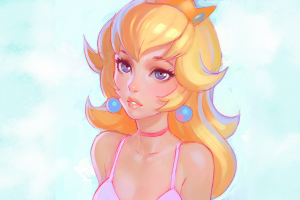 fantasy art digital art video game art original characters artwork mario bros. princess peach super mario bros. blonde women princess